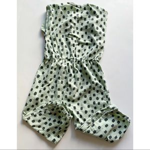 H&M Bottoms - Toddler Girl- mint green and black  pant romper